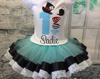 Mad hatter tea party, mad hatter birthday, alice in wonderland birthday, onederland birthday out, mad hatter birthday outfit,
