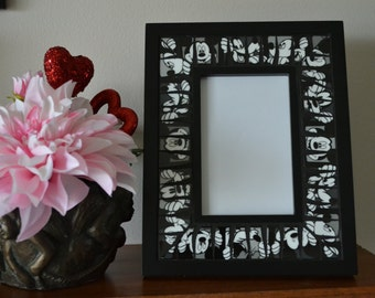 """Broken China Mosaic Mickey Mouse Picture Frame 4"""" x 6"""""""