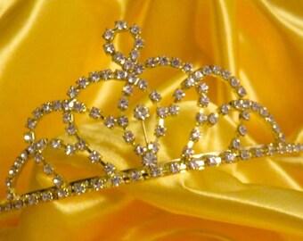 Gold with rhinestone tiara
