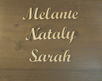 Wedding guest names, 10 Wedding place cards, wedding seating, wood name cards, guests names, wedding place settings