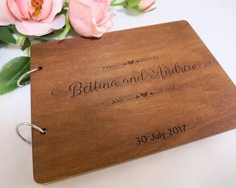 Unique Guest Book Wedding, Rustic Chic Wedding Guest Book, Custom Wreath Guest Book, Personalized Wooden Guest Book, Shaby Chic Wedding