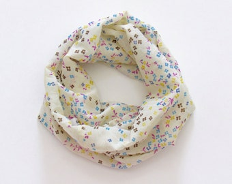 Girl's Infinity Scarf. Child Floral Scarf.