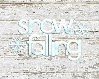 Snow Falling Alpha