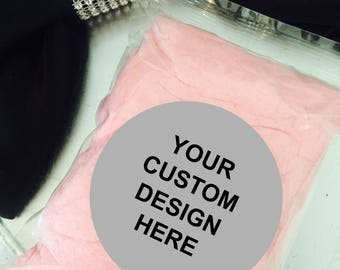 30 Custom Label Design Personalized Prepackaged Cotton Candy Favors