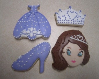 1 Dozen Sofia the First Fan Art Cookies