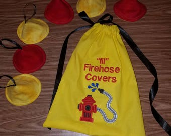 lil Firehose Covers, tinkle tents, peepee teepee, firefighter gift, Baby gift, firefighter baby, Baby shower Gift, Baby gag gift,