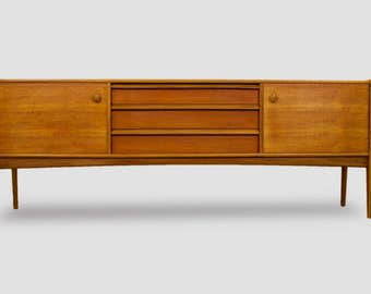 Mid Century Modern Teak Credenza, sideboard or Media console with stunning  design  S802