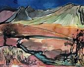 THE FAIRY POOLS - Skye Series 1 - Original Watercolour Painting - Mountain Landscape - Isle of Skye - Landscape Painting - ElizabethAFox