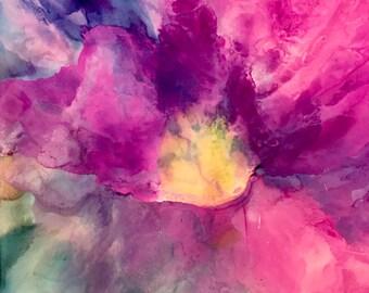 Alcohol ink art. Bloom II