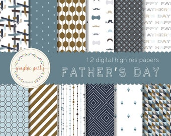 Father's Day Digital Papers for Scrapbooking