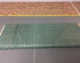 Green mini plaids Fabric by the yard