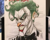"""DC Comics """"Harley Quinn and the Suicide Squad"""" Sketch Cover variant with Joker sketch by artist Tom Hodges"""