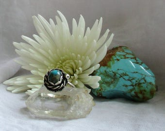Small Twist Turquoise Ring