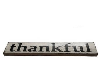 Thankful Sign - hand painted sign - pallet boards sign - rustic sign - decorative sign - home decor - gift - wooden sign