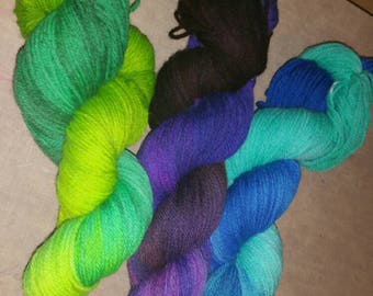 Two toned hand dyed yarn