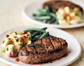 1:6 miniature - Steak, Green Beans, Potato Salad