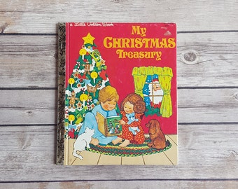 Holiday Little Golden Book My Christmas Treasury Old School Story for Kids Xmas Tales for Children World Christmas Stories Stocking Stuffer