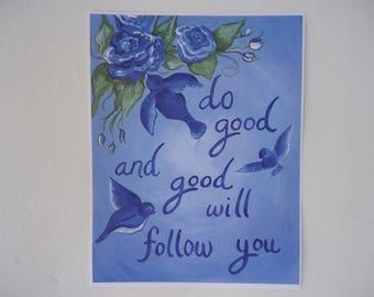 Bluebird Inspirational Print