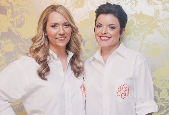 2 Monogrammed Button Downs by MAM Weddings