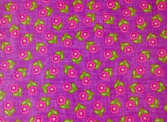 Floral fabric by the yard quilt purple nursery girl for Floral nursery fabric
