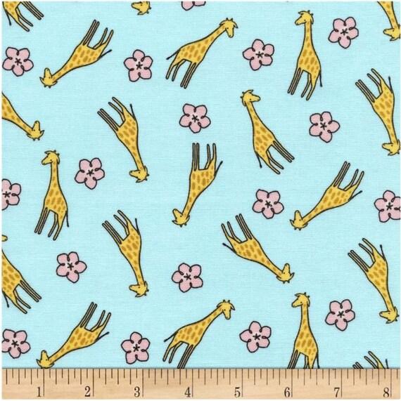 Giraffe fabric by the yard quilting nursery baby cotton for Baby nursery fabric yard