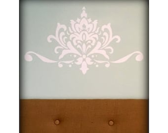 Damask Wall Decal, Wall Decor, Damask Design, Vinyl Decal, Home Decor, Wall Vinyl, Wall Art, Vintage Decor, DIY Decal, Choose your color!