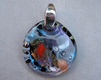 Murano glass pendant-Lampwork glass pendant-Pendantif en verre-Pendente vetro-Universo collection