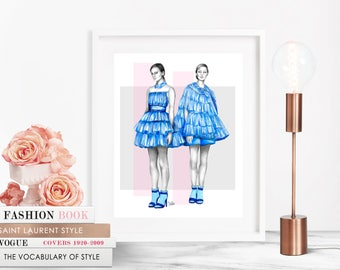 Bora Aksu / Fashion Illustration / Fashion Print