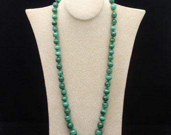 Malachite Bead Necklace Strand
