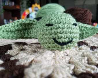 Star Wars Yoda Crochet Baby Lovey
