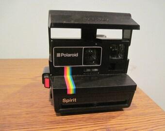 Polaroid Spirit Instant 600 Film Land Black Camera Rainbow Stripe