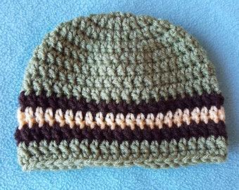 Baby Crochet Hat Green - Handmade Accessories for Children - AutumnsItems
