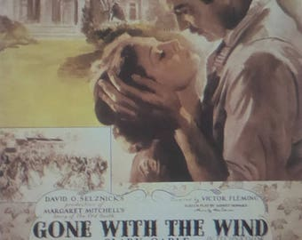 Gone with the Wind - Clark Gable  - Movie Poster - Framed Picture 11 x 14