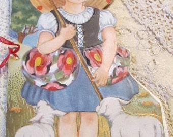 Antique/Vintage Valentine - Little BoPeep