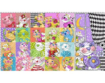 Loralie Designs - Calico Cats Panel - 692-195