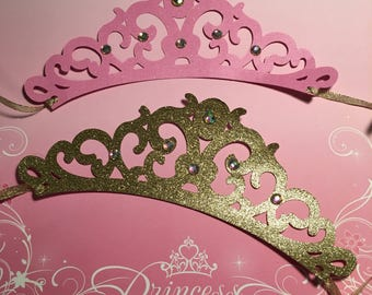 Pink and Gold Birthday Party Decoration. Handcrafted in 2-5 Business Days. Princess Crowns as Party Favors,Princess Tiaras