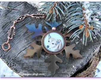 Snowflake Photo Ornament, Custom Pet Ornament, Pet Photo Ornament, Family Photo Memorial, Pet Condolence Gift, Stamped Photo Ornament