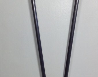 """18"""" 2 Rod Hairpin Legs Mid-Century Hairpin Legs (set of 4) with 3/8"""" Raw Steel - Industrial, Urban Hairpin Legs 18"""" Coffee Table"""