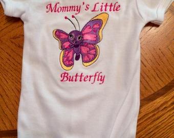 Mommy's Little butterfly onesie