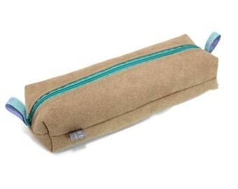 pencil case, make-up bag, small bag, faux alcantara bag,