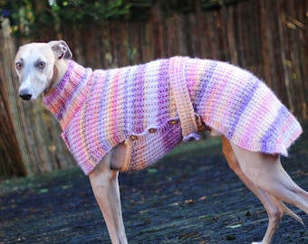 Summer Fruits Whippet Coat, Whippet Jumper, Whippet Clothes, dog coat, dog jumper,