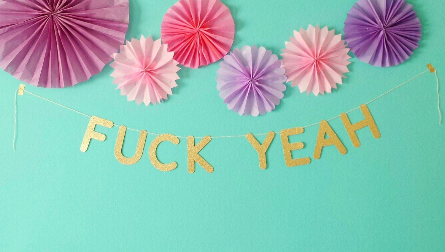 Fuck yeah party banner gold glitter black glitter pink zoom amipublicfo Gallery