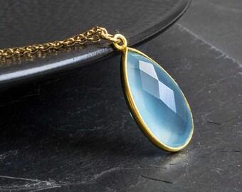 Blue stone necklace - unique piece