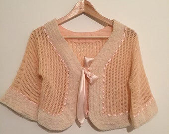 Vintage fifties his fifties liseuse pink lingerie
