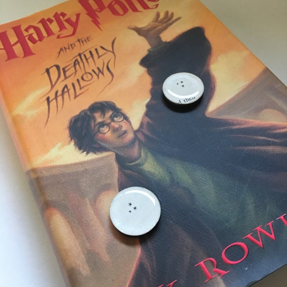Book Page Harry Potter Themed Refrigerator Magnets - set of 2