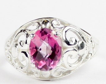 Pure Pink Topaz, Sterling Silver Ring, SR111