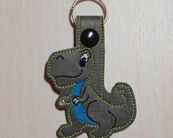 Key Fob/Snap Tab - Dinosaur