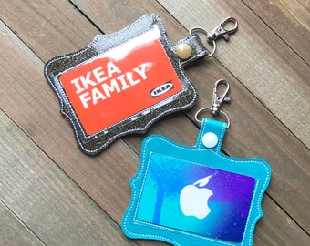 ID Badge Holder, Badge Holder, ID Holder, Horizontal or Vertical, You choose from 70 Colors!