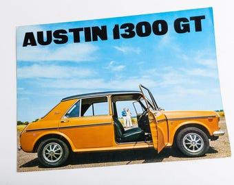 "Original Vintage ""AUSTIN 1300 GT"" - old Booklet - 70s - Automobile Memorabilia - Austin 1300"