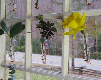 Single stem window vases (set of 3)